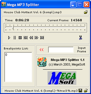 Mega Mp3 Splitter .1.1-Portable