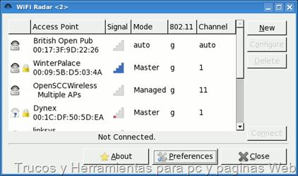 Programa para rastrear redes Wifi sin contraseñas(Linux)