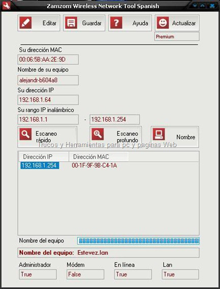 Zamzom Wireless Network Tool Español   Serial (Premium)