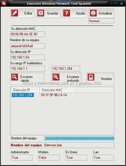 Zamzom Wireless Network Tool Español   Serial (Premium)