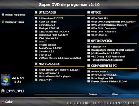 Super DVD de Programas 2012  V3.1.0 Español